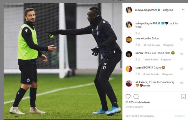 """Verbannen Mbaye Diagne maakt lol op training: """"Ik trap geen penalty, die is voor Hans"""""""