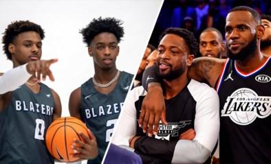 Berucht op 15 en 17 jaar: uitverkochte en live uitgezonden wedstrijden van zonen NBA-legendes zorgen voor hype