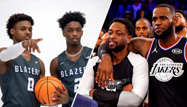 Beruchte pubers: uitverkochte en live uitgezonden wedstrijden van zonen NBA-legendes zorgen voor hype