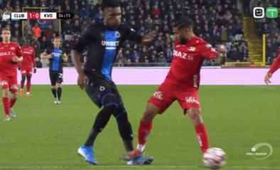 Donkerrode kaart voor Ronald Vargas bij terugkeer naar Club Brugge, Dennis ontsnapt
