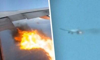Paniek tijdens vlucht: vlammen slaan kort na opstijgen uit defecte vliegtuigmotor
