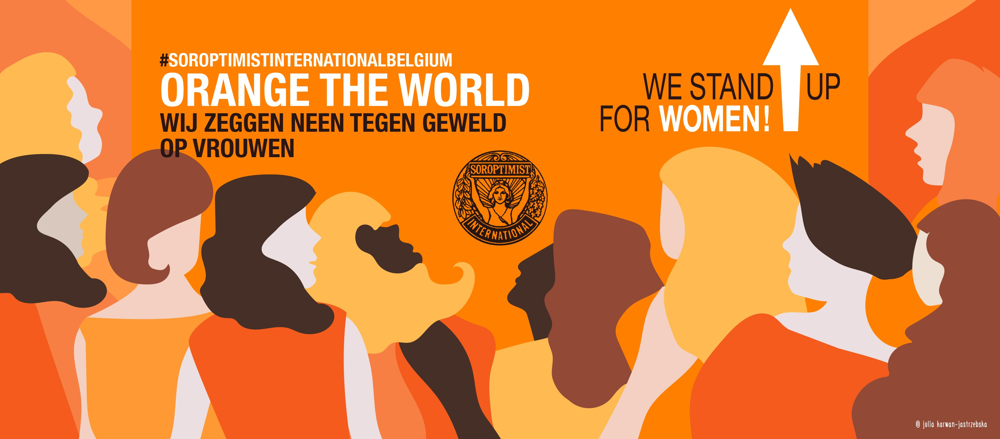 "Soroptimist Club Beersel steunt ""Orange the world"""