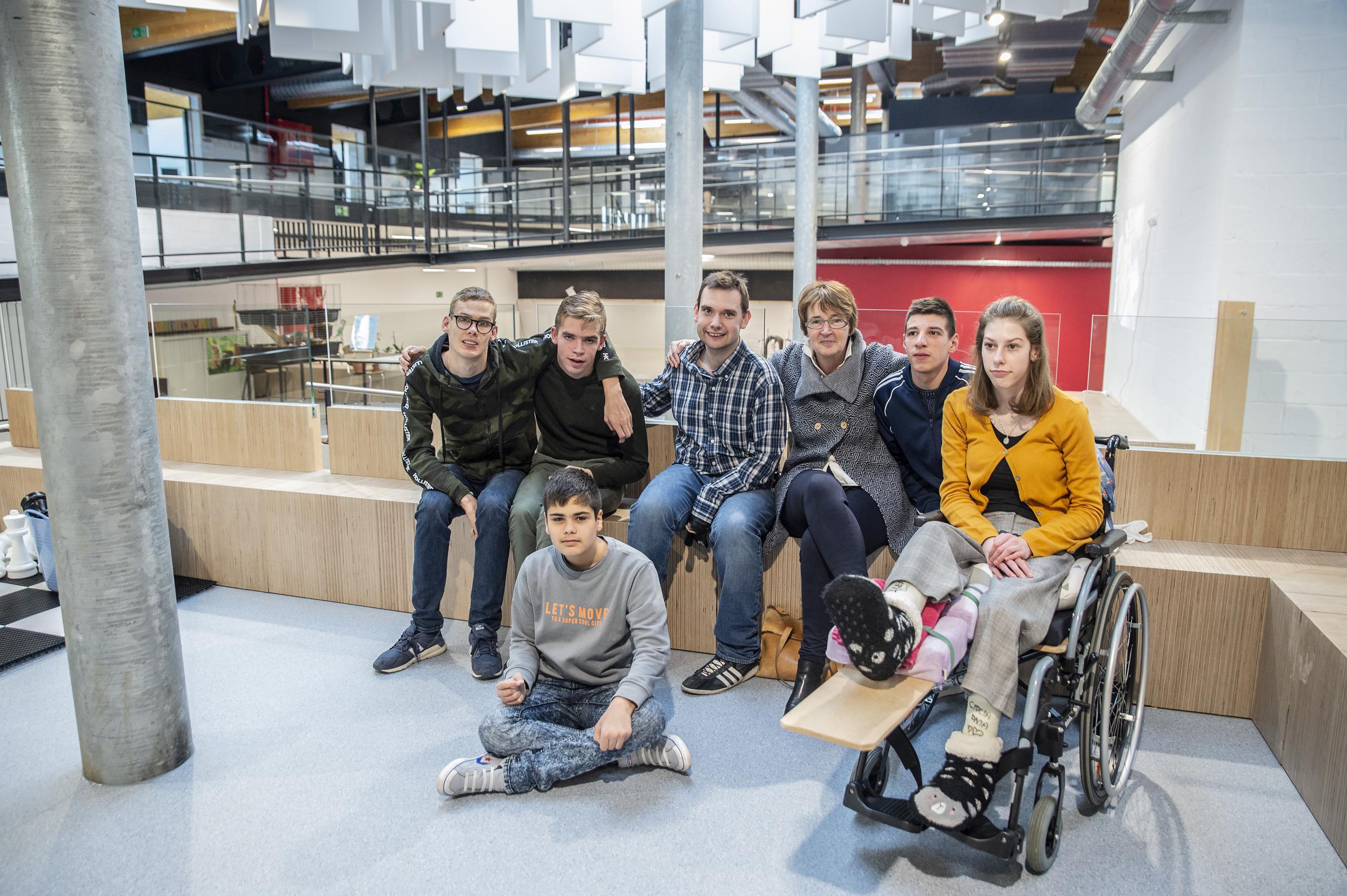 Leerlingen Dominiek Savio gebruiken nieuw gebouw dat gebaseerd is op kunstwerk
