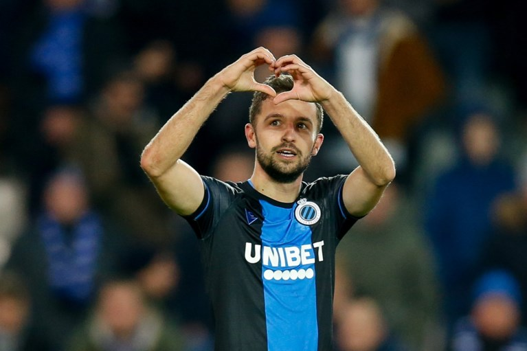 Club Brugge wint met de handrem op tegen tien man van Oostende