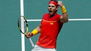 Rafael Nadal schenkt Spanje de Davis Cup in eigen huis