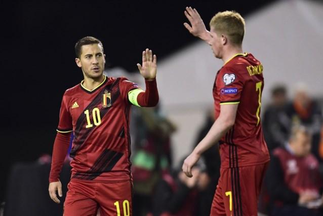 Drie Rode Duivels genomineerd voor 'Team van het Jaar' van de UEFA