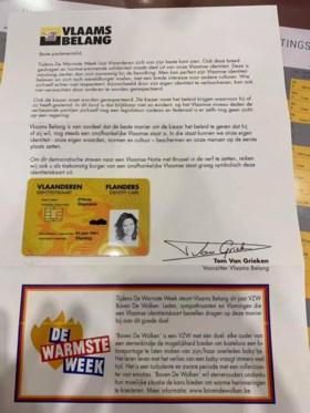 """Vlaams Belang verkoopt 'Vlaamse identiteitskaarten' voor Warmste Week, goede doel aanvaardt actie niet: """"Dit is geen wafelbak"""""""