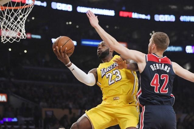 NBA. Anthony Davis en LeBron James leiden LA Lakers naar tiende zege op rij