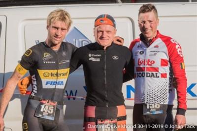"""Wielrenner Jens Keukeleire op het podium in… de Damse crossduatlon: """"Amusant, maar nu heb ik overal pijn"""""""