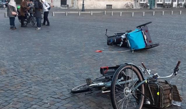 Opvallend veel glijpartijen met fietsers en voetgangers door vriesweer