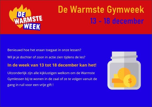 Keerbergse turnclub De Gympies steunt drie goede doelen tijdens de Warmste Gymweek