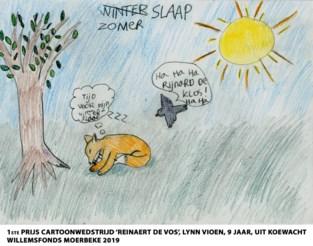 Lyn Vioen uit Koewacht wint cartoonwedstrijd 'Reinaert De Vos' uitgeschreven door Het Willemsfonds Moerbeke
