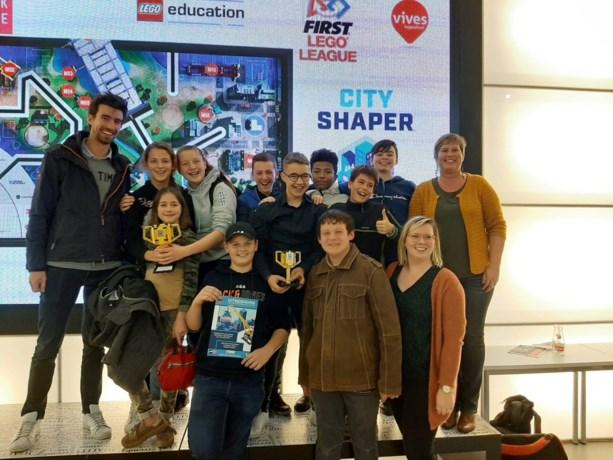 Middenschool naar Beneluxfinale van First Lego League