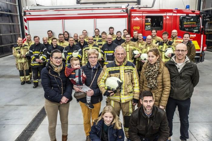 """Jan Lievens verlaat brandweer na bijna negenendertig jaar dienst: """"Dat groepsgevoel doet echt deugd"""""""