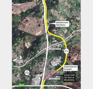 Nieuw alternatief voor Noord-Zuid met tunnel onder Meulenberg