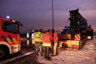Verkeershinder op E34 door brandende vrachtwagen