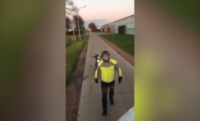 Video van boze Kempische fietser die niet wil wijken voor vrachtwagen gaat viraal