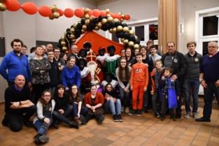 Sinterklaas op bezoek bij de fanfare