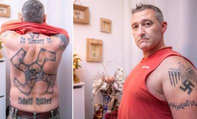Zijn lichaam is bedekt met hakenkruisen, maar Geert heeft nu spijt van al zijn tattoos