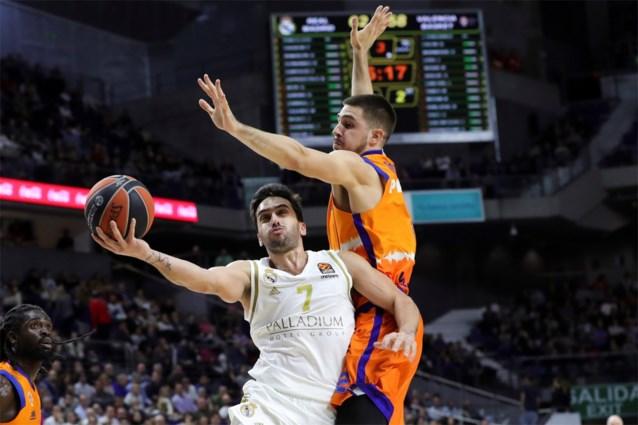 Valencia verliest zonder geblesseerde Sam Van Rossom bij Real Madrid in de Euroleague basketbal