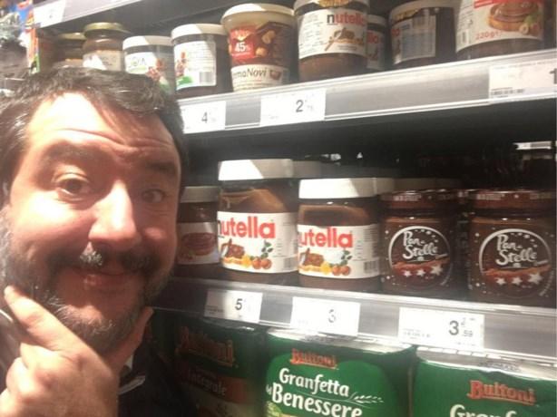 """Salvini dreigt met boycot van Nutella wegens """"niet Italiaans genoeg"""""""