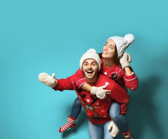 Leuk, zo'n gekke kersttrui, maar de planeet lacht er niet mee