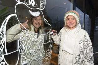 Jook Doodle Woman beschildert dertig etalages