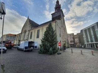 Kerstboom krijgt nieuwe plek naast kerk