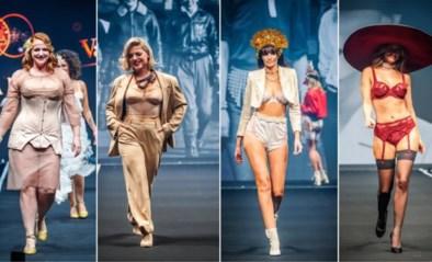 BV's en modellen showen vintage lingerie op catwalk voor 100ste verjaardag lingeriehuis Van de Velde