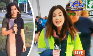 Journaliste bijt van zich af nadat man op haar billen slaat tijdens live-uitzending