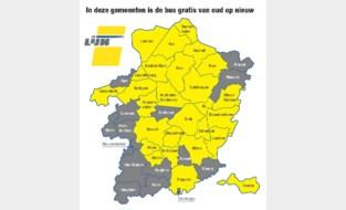 Gratis bus van oud op nieuw in 27 Limburgse gemeenten
