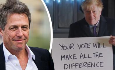 Boris Johnson speelt beroemde filmscène na, Hugh Grant vindt dat er iets belangrijks ontbreekt