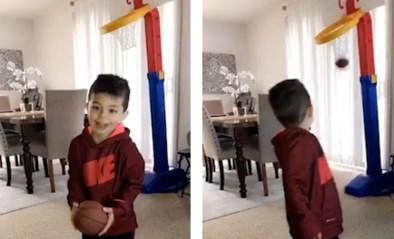 Is dit de nieuwe LeBron? 4-jarige jongen mist geen enkel shot