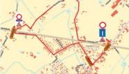 Wegenwerken in Houtbulkstraat in Wontergem