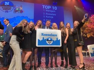 Roeselare uitgeroepen tot tweede 'Plezantste Gemeente' van Vlaanderen