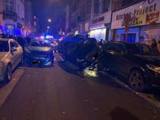Drie gewonden na zware crash in Josaphatstraat