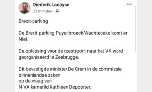 Geen Brexit-parking in Puyenbroeck