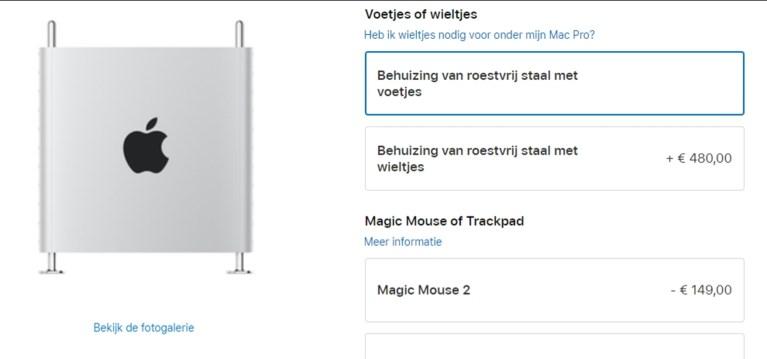 Wieltjes onder je nagelnieuwe Mac Pro? Dat is dan 480 euro a.u.b.