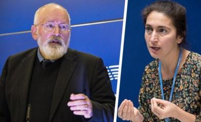"""Zuhal Demir (N-VA) maakt slechte beurt bij Europese klimaatcommissaris Frans Timmermans: """"Ze keek me aan en zei: 'Ah'"""""""