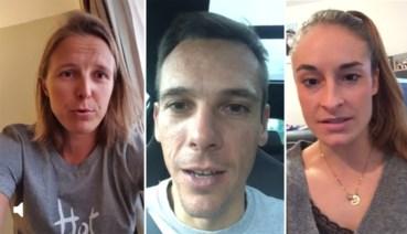 Kirsten Flipkens, Philippe Gilbert en Tessa Wullaert