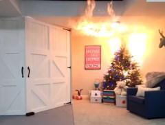 Zo snel zet een brandende kerstboom je huis in lichterlaaie