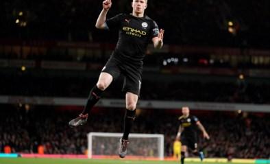 Kevin De Bruyne opent na 89 seconden de score tegen Arsenal, en doet daar meteen assist en tweede goal bij