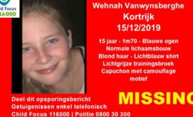 """Vijftienjarig meisje uit Kortrijk vermist: """"Onrustwekkende verdwijning"""""""