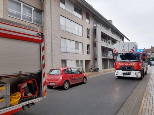 Gordijn vat vuur in appartementsgebouw in Roeselare