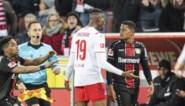Bayer Leverkusen moet Leon Bailey (ex-Genk) drie weken missen na rode kaart