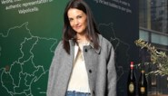 Katie Holmes gespot in Antwerpse mantel