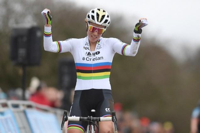 """Eindelijk feest voor Sanne Cant want de wereldkampioene wint de Waaslandcross: """"Hoop dat ik nu vertrokken ben"""""""