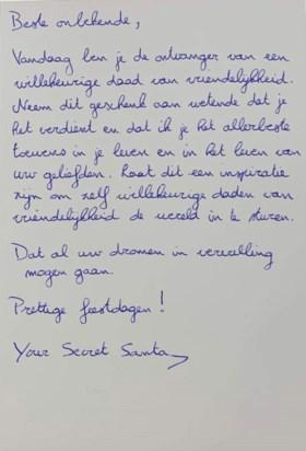 """Kerstinkopen draaien helemaal anders uit voor gezin uit Haaltert: """"Plots gaf een man onze zoon een kaartje met vijftig euro"""""""