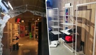 """Onbekenden breken raam en roven winkel van indoorskibaan Aspen in Wilrijk helemaal leeg: """"Zelfs de paspoppen zijn gestript"""""""