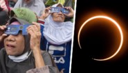 Aziatische landen genieten van zeldzame ringvormige zonsverduistering